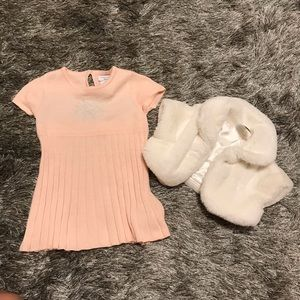 Tahari Matching Sets - Tahari baby knitted dress set